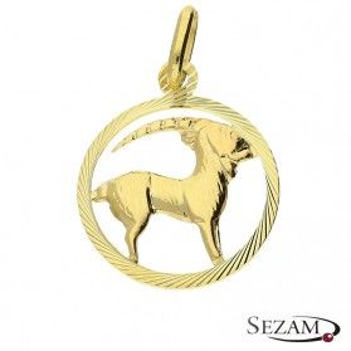 Złoty zodiak Koziorożec nr BC BC064 próba 585