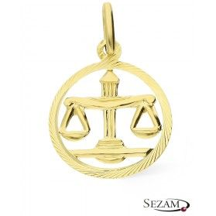 Złoty zodiak Waga nr BC BC064 próba 585