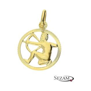 Złoty zodiak Strzelec nr BC BC064 próba 585
