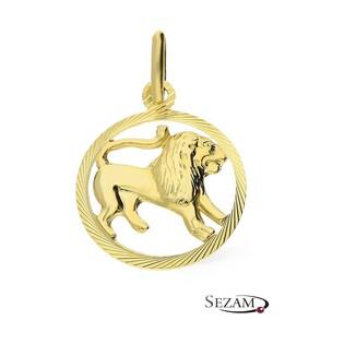Złoty zodiak Lew nr BC BC064 próba 585