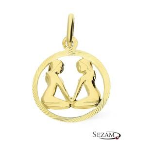 Złoty zodiak Bliźnięta nr BC BC064 próba 585