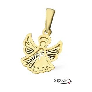 Zawieszka złota anioł z krzyżykiem MZ T23-P-0218-28-LZ próba 585