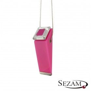 1 różowy akryl+Swarovski M2 STREET LINE 1 różowy akryl+ próba 925