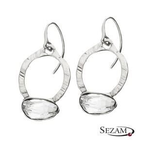 Kolczyki srebrne z kryształami Swarovski MY M4164 MOTYLE próba 925