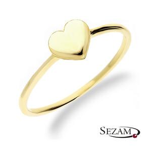 Złoty pierścionek z serduszkiem nr AR 5723