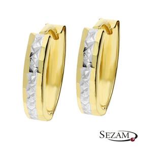 Kolczyki owalne ze złota nr AR X6SH290007-YW próba 585