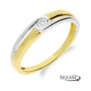 Pierścionek zaręczynowy złoty Braid Magic  KU 2607 próba 585