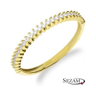 Pierścionek złoty rings z cyrkoniami numer AR 1483-FCZ Au 333