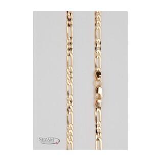 Łańcuszek złoty dla mężczyzny typu figaro z pełnego złota nr TG GALD 3+1 120 próba 585