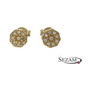 Kolczyki złote kwiatki nr MX 17CE0043-Y GS Au 333 Sezam - 1
