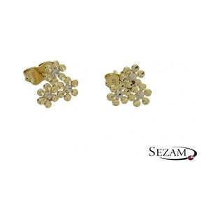 Kolczyki złote kwiaty nr AR 212008
