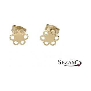 Kolczyki złote kwiatki nr MX 17XE0447-Y Au 333