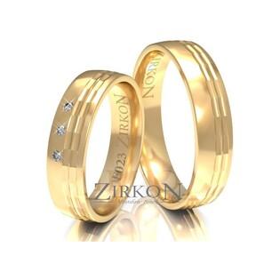 Obrączki ślubne z kamieniami nr ZI F-023 Sezam - 1