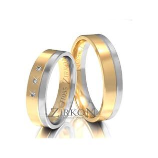 Obrączki ślubne dwukolorowe z kamieniami nr ZI H-055 Sezam - 1