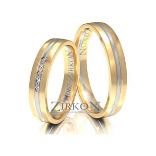 Obrączki ślubne dwukolorowe z kamieniami nr ZI H-067 Sezam - 1