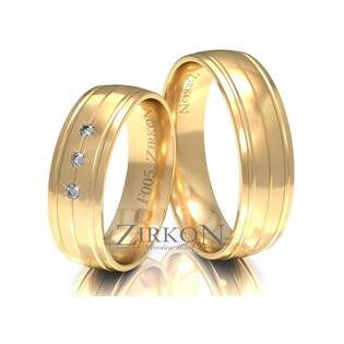 Obrączki ślubne z kamieniami nr ZI F-005 Sezam - 1