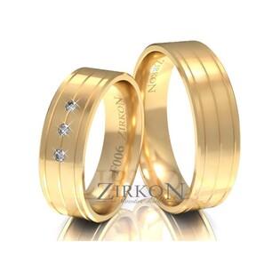 Obrączki ślubne z kamieniami nr ZI F-006 Sezam - 1