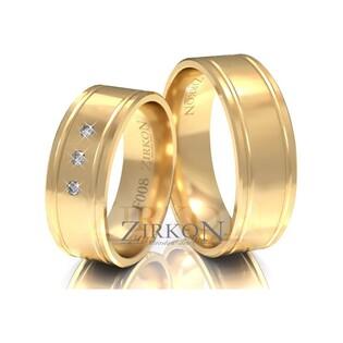 Obrączki ślubne z kamieniami nr ZI F-008 Sezam - 1