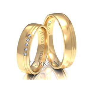 Obrączki ślubne z kamieniami nr ZI F-024 Sezam - 1