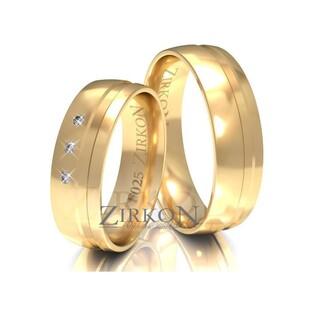 Obrączki ślubne z kamieniami nr ZI F-025 Sezam - 1