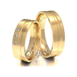 Obrączki ślubne z kamieniami nr ZI F-026 Sezam - 1