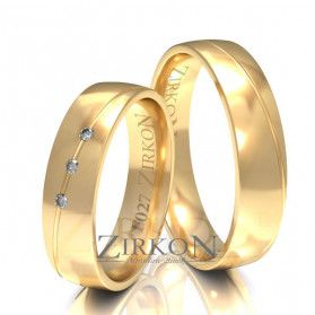Obrączki ślubne z kamieniami nr ZI F-027 Sezam - 1