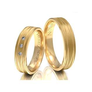 Obrączki ślubne z kamieniami nr ZI R-02 Sezam - 1