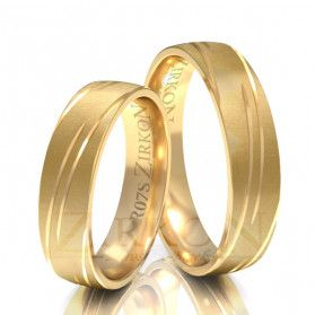 Obrączki ślubne z kamieniami nr ZI R-07 Sezam - 1
