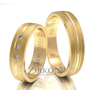 Obrączki ślubne z kamieniami nr ZI R-13 Sezam - 1