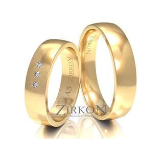 Obrączki ślubne klasyczne z kamieniami nr ZI A-5 Sezam - 1