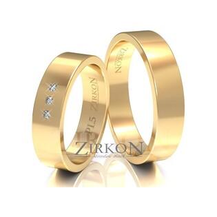 Obrączki ślubne klasyczne z kamieniami nr ZI PL-5 Sezam - 1