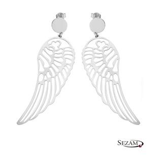Kolczyki srebrne  skrzydła ażurowe BC025 ROD próba 925