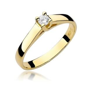 Pierścionek zaręczynowy z brylantem nr BE W-070 VICTORIA