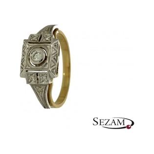 Pierścionek złoty zaręczynowy z brylantem numer GR 5079
