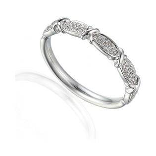 Pierścionek zaręczynowy z brylantami numer AW 59644 W białe złoto LINE fancy