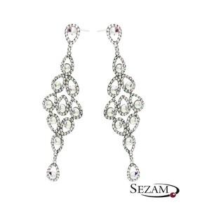 Wiszące kolczyki srebrne z kryształami Swarovski GRACE RD 736-1 próba 925 Sezam - 1