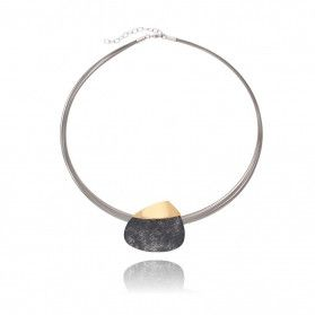 Naszyjnik ze srebra i metalu z kolekcji Encre A6 07568114-00 próba 925 Sezam - 1