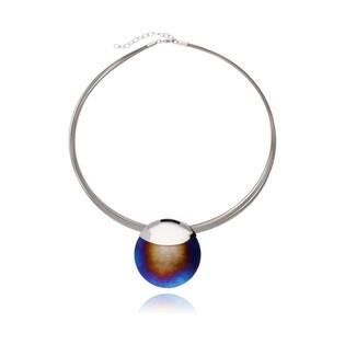 Naszyjnik ze srebra i metalu z tytanową zawieszką kolekcja Encre AG A6 07570102-00 próba 925 Sezam - 1