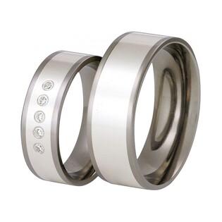 Obrączki tytanowe ze srebrem nr SW TS55-6/P