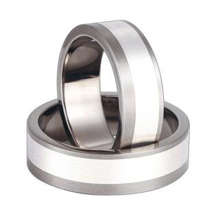 Obrączki tytanowe ze srebrem nr SW TS68-7
