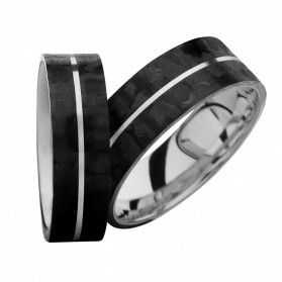 Obrączki karbonowe ze srebrem nr SW SRC4-6