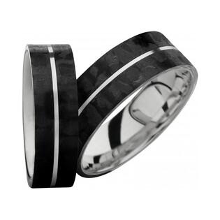 Obrączki karbonowe ze srebrem nr SW SRC4-5