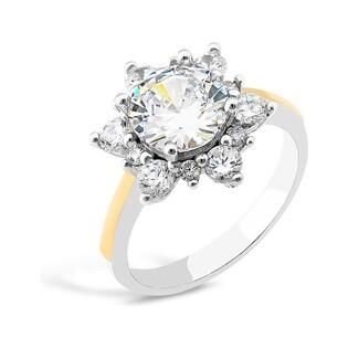 Srebrny pierścionek z motywem kwiatu PX 850_AU375