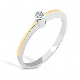 Srebrny pierścionek z cyrkonią PX 836_AU375