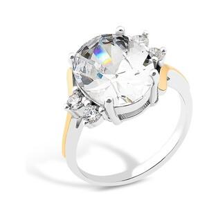 Srebrny pierścionek z dużą cyrkonią PX 840_AU375