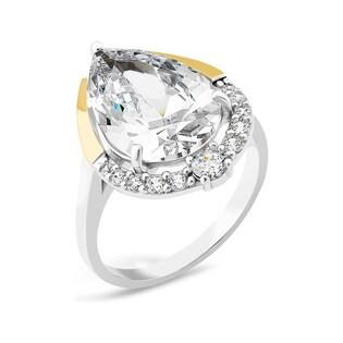 Srebrny pierścionek z cyrkoniami PX 827_AU375