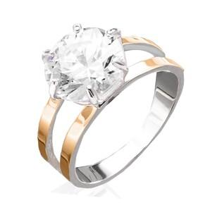 Srebrny pierścionek soliter DC 001_AU375