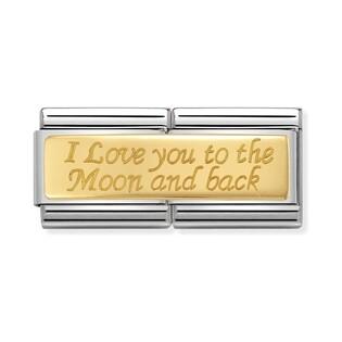 Element Link NOMINATION Composable 18K DOUBLE I love You NP 030710 10 CO KK