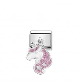 Element Link NOMINATION Composable AG charms Unicorn Swarovski NP 331805 13 AO