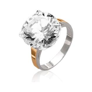 Srebrny pierścionek soliter z dużą cyrkonią DC 095_AU375
